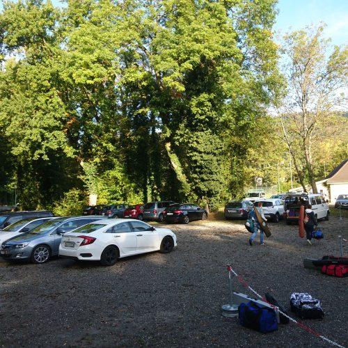 Parkplatz voll